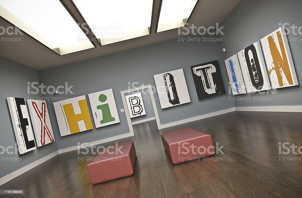Exhibition stock photo