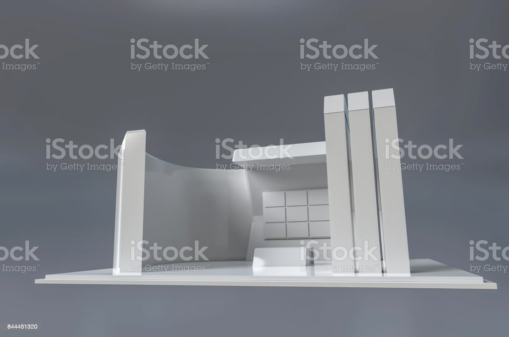 Exhibition Stand 3d Model Free : Exhibition stand d template stock photo more pictures of
