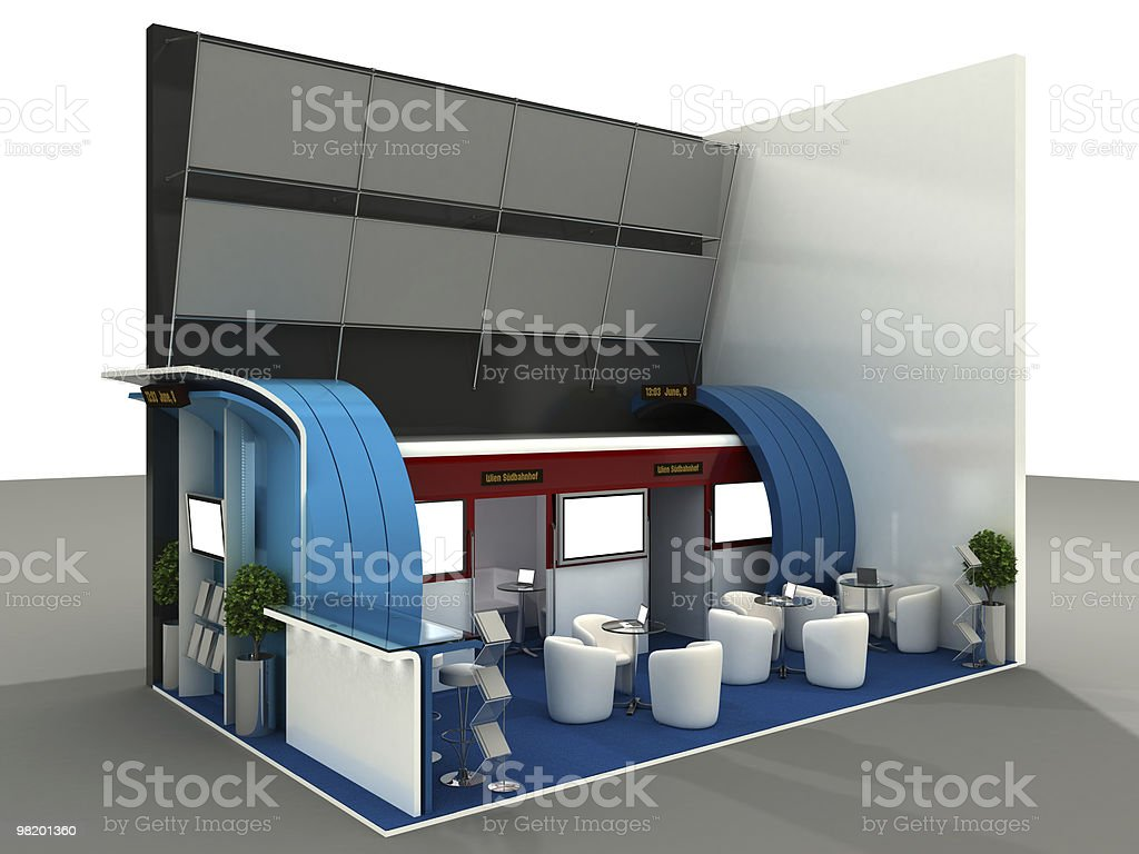 Exhibition Stand Interior Sample royalty-free stock photo