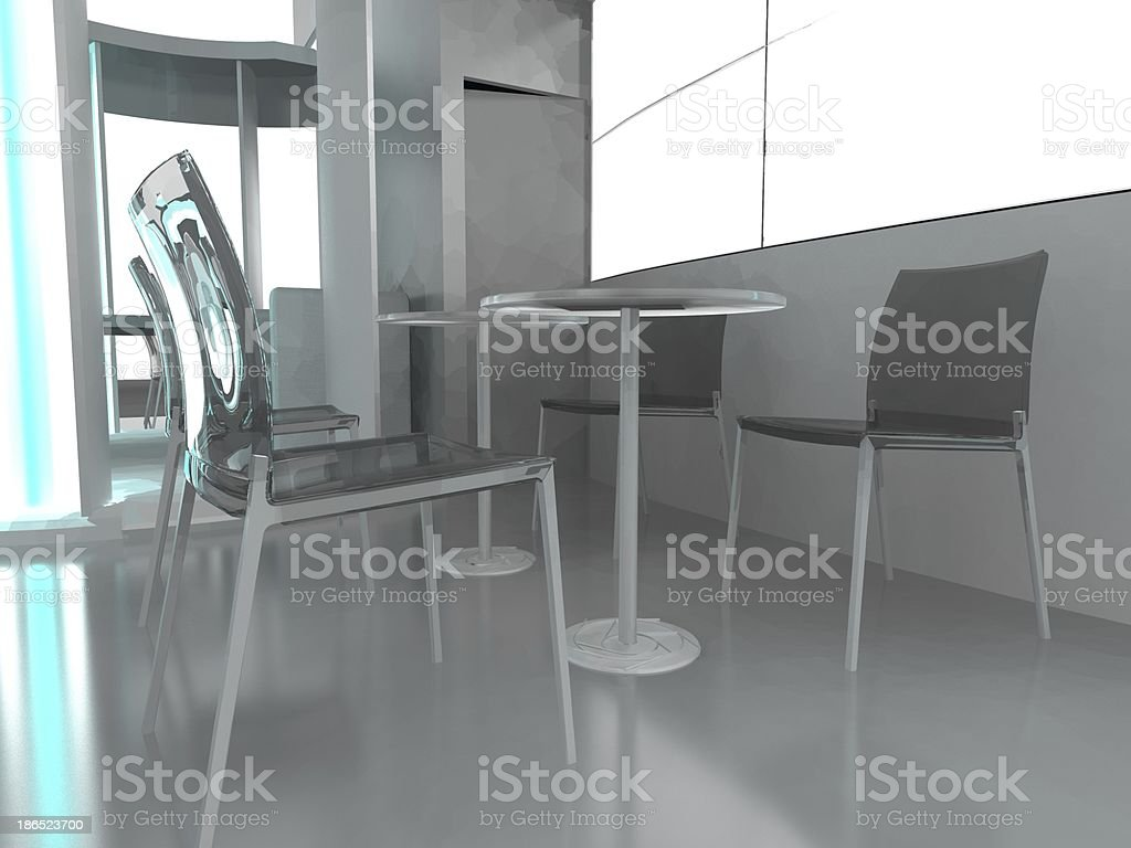 Exhibition Stand Interior/Exterior Sample royalty-free stock photo