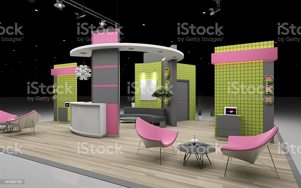 exhibition stand stock photo