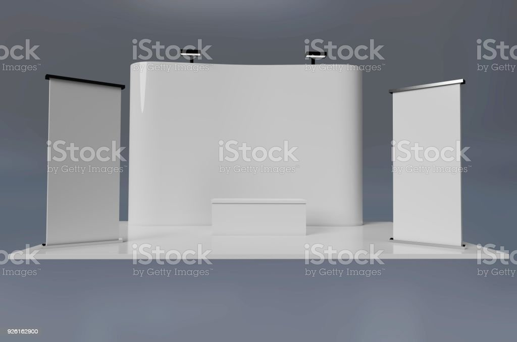 Exhibition Stand Free D Model : Exhibition stand plain stock photo & more pictures of booth istock