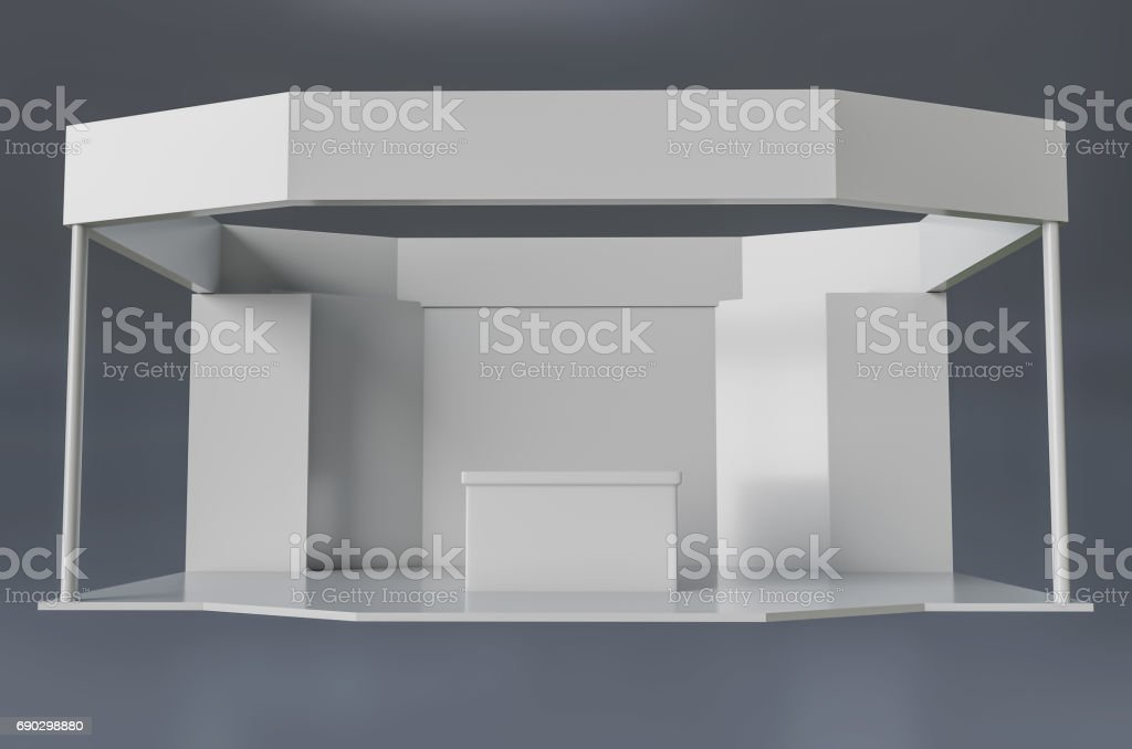 exhibition stand template stock photo