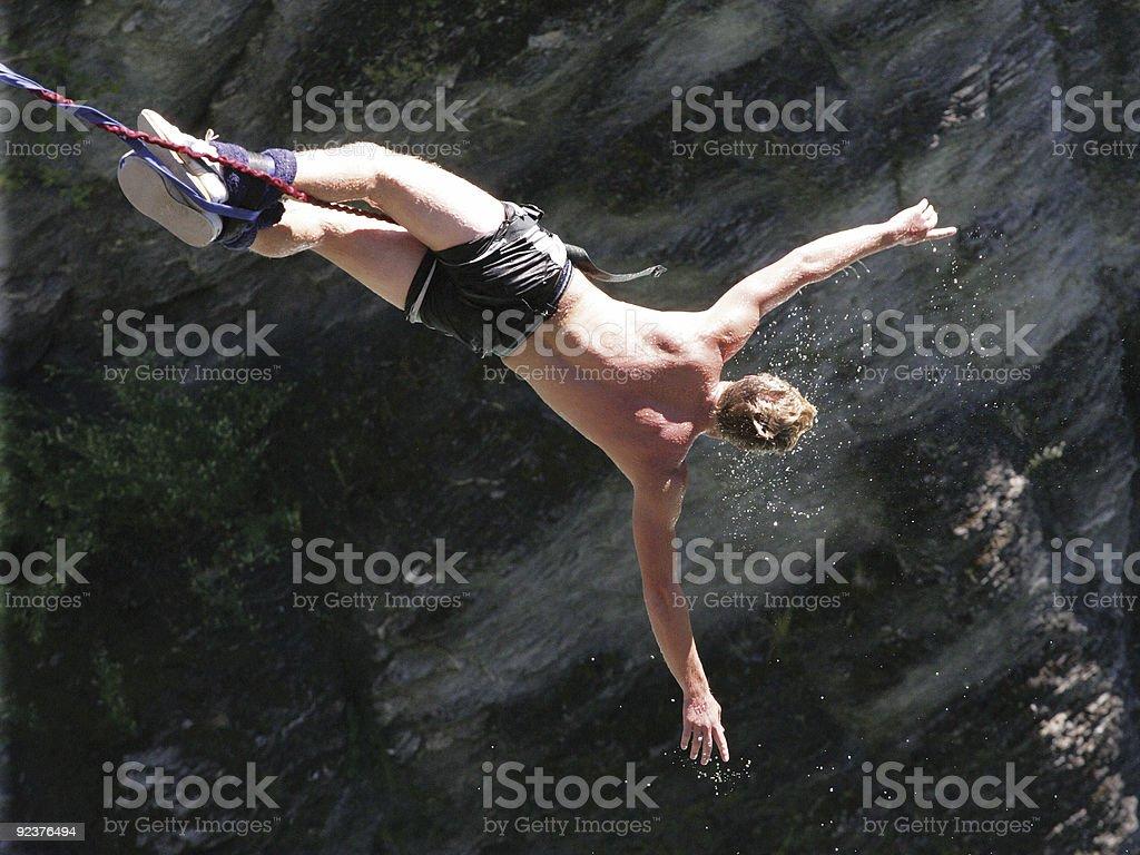Exhilarating bungee jump royalty-free stock photo