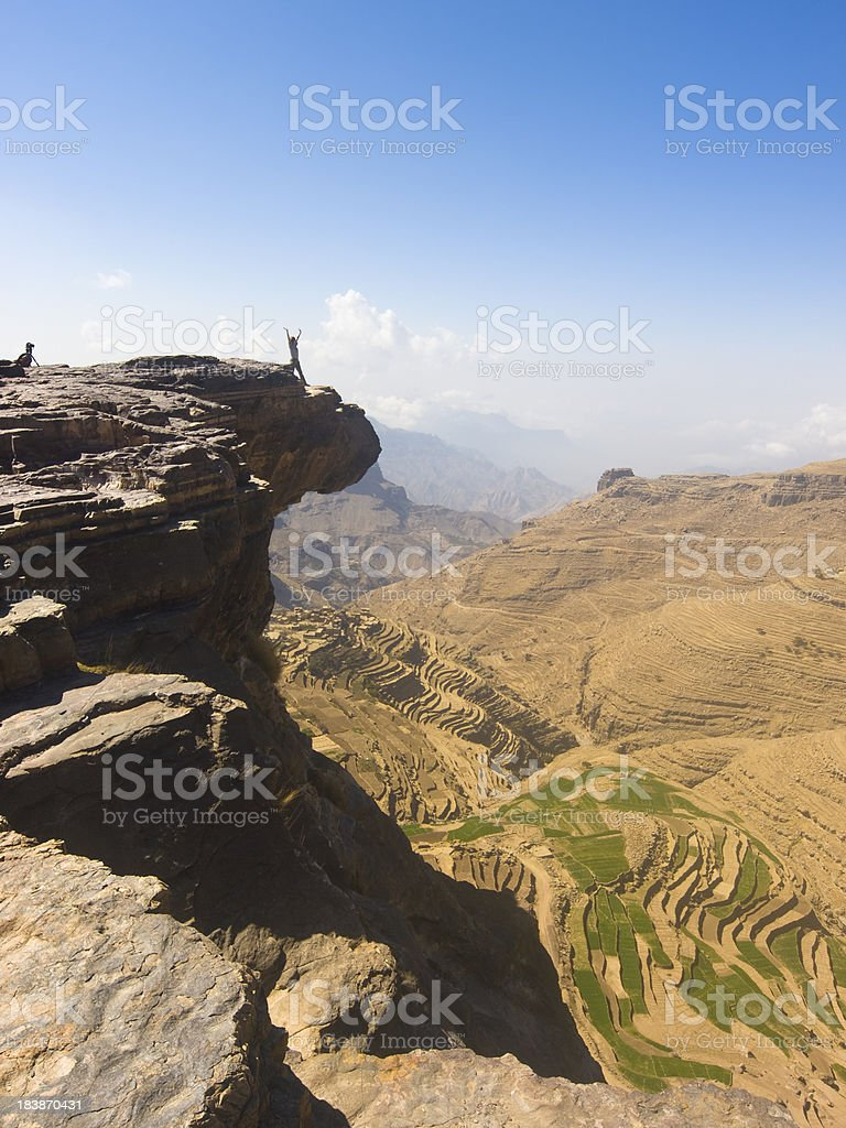 Exhilarating view on the Kawkaban plateau in Yemen. royalty-free stock photo