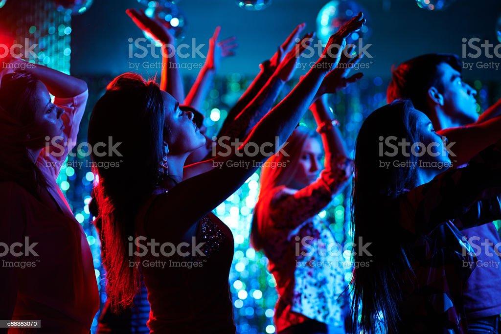 Exhilarious party stock photo