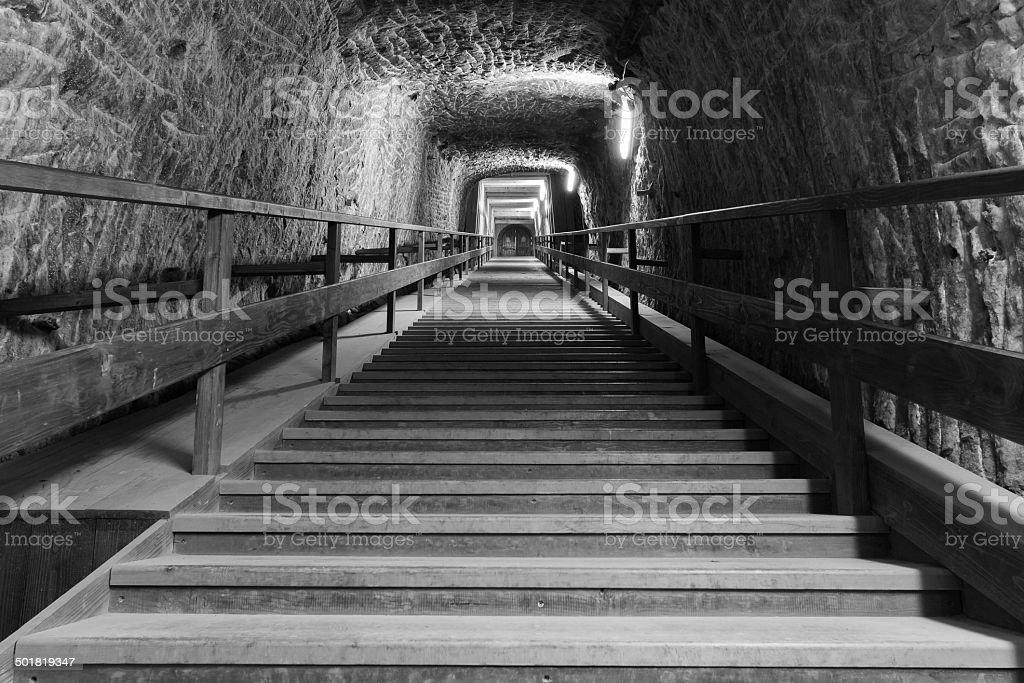 Nehmen Sie die Ausfahrt corridor von salt mine – Foto