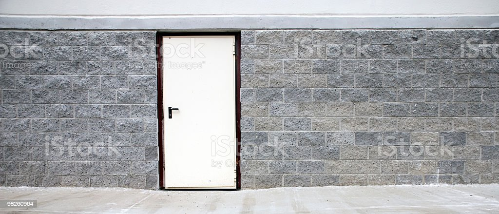 Exit door on a factory building royalty-free stock photo