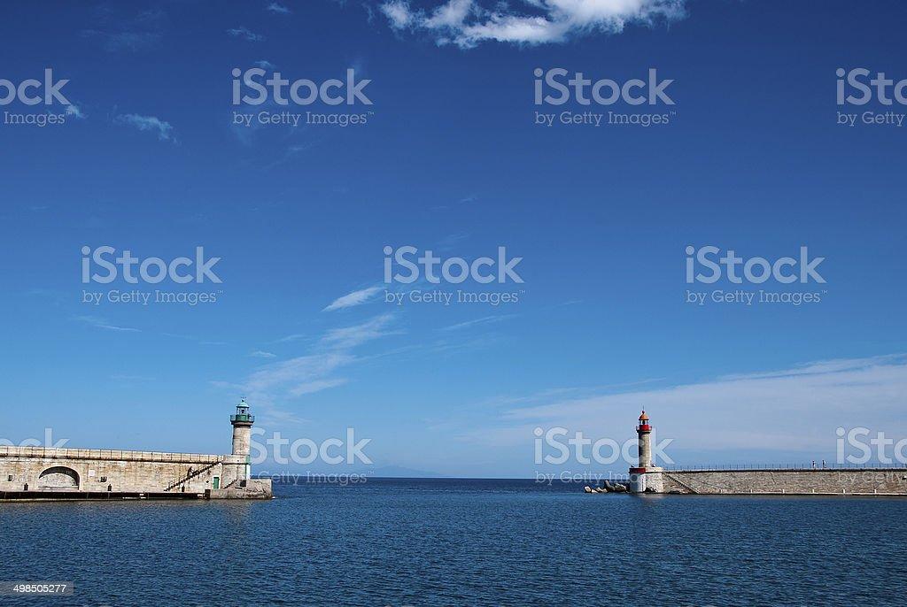 sortie du port de Bastia stock photo