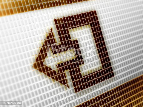 istock Exit icon on the screen. 1076266280
