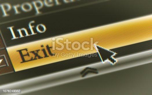 istock Exit 1076249352