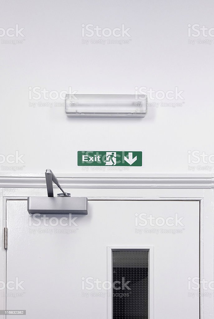 Exit stock photo