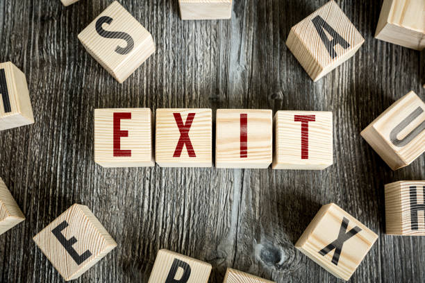exit - exit sign stock photos and pictures
