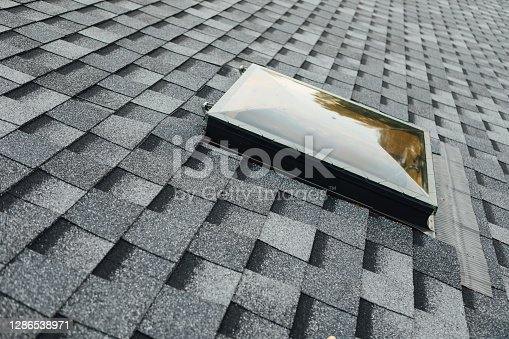 exit roof window on shingles flat polymeric roof-tiles