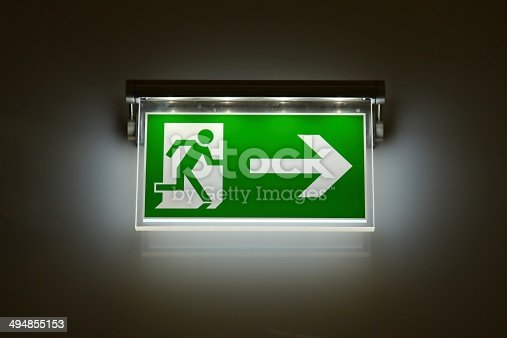 istock Exit Sign 494855153