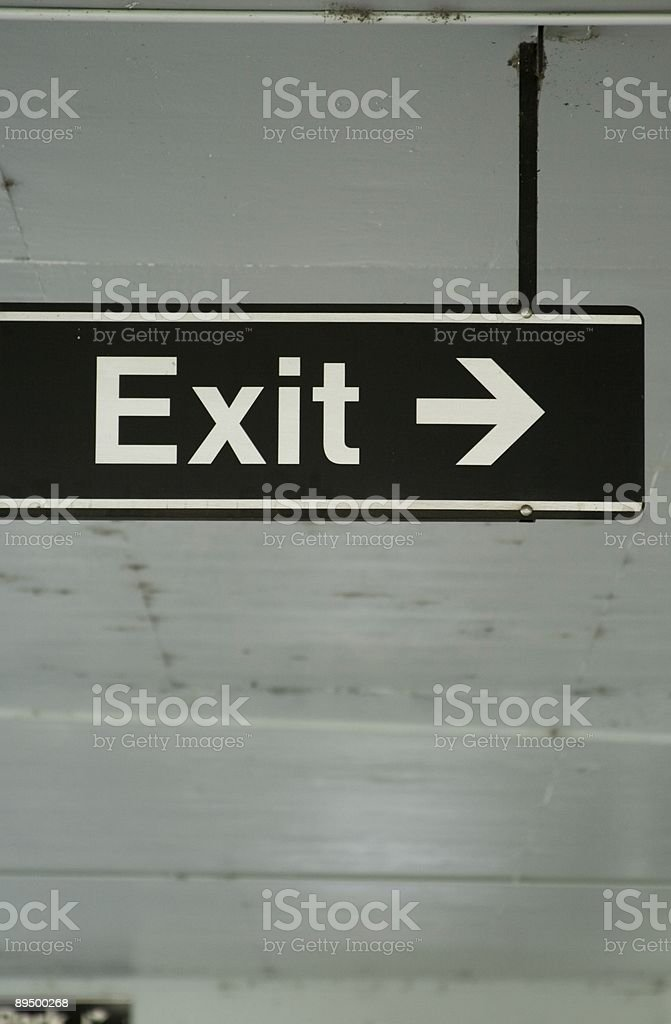 Exit-Segnale inglese foto stock royalty-free