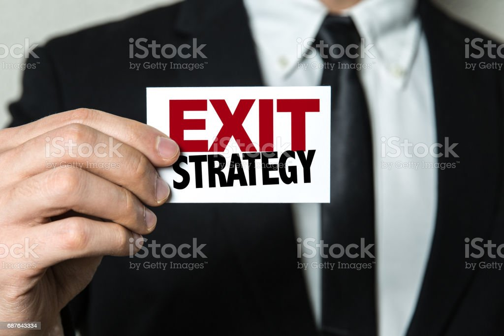 Exit Strategy stock photo