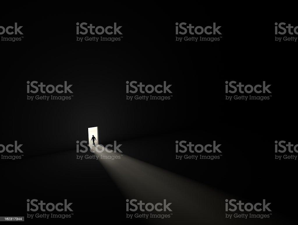 exit to light stock photo