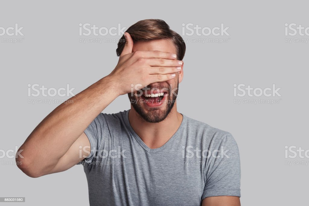 Exited about something. stock photo