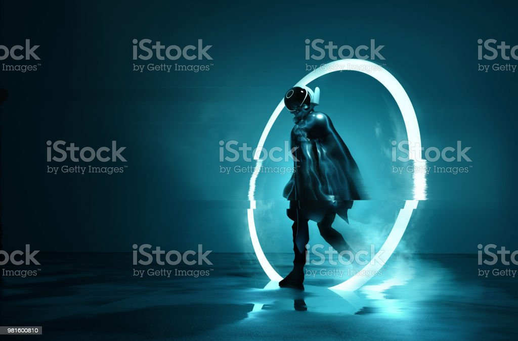 Exiting The Void stock photo