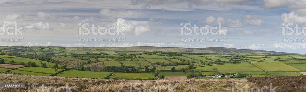 Exmoor Panoramic Landscape royalty-free stock photo