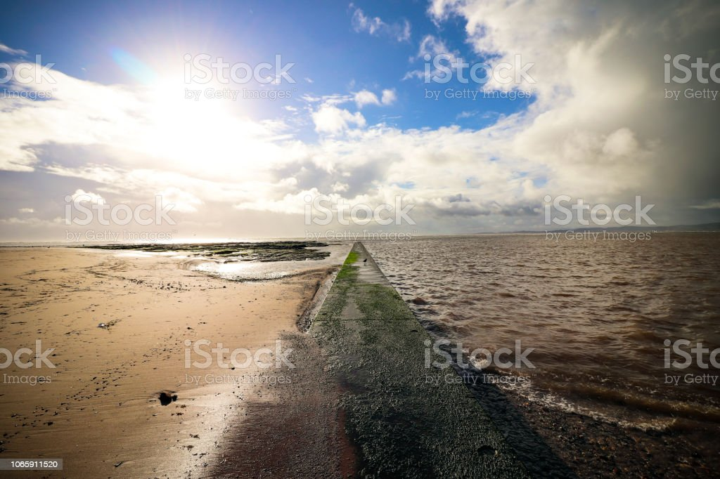 Exmouth Beach in Devon stock photo