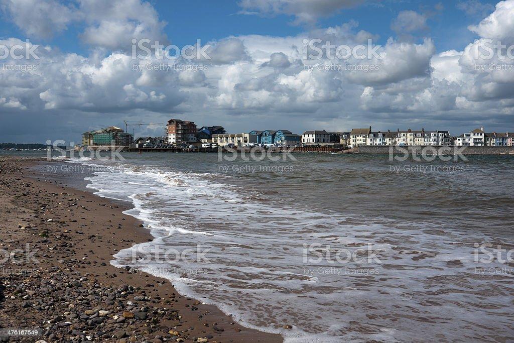 Exmouth dock area from Dawlish Warren stock photo