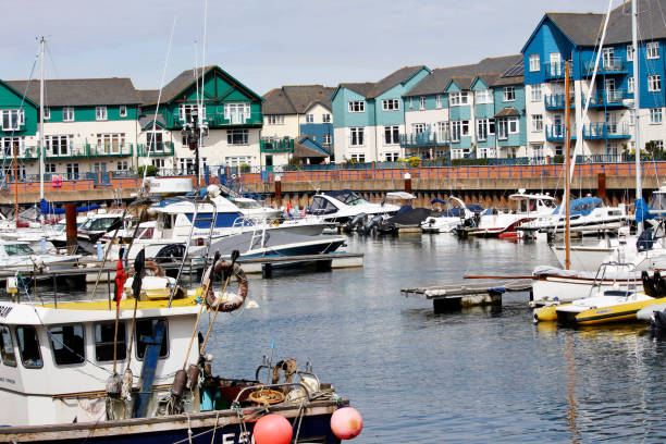 Exmouth Marina stock photo