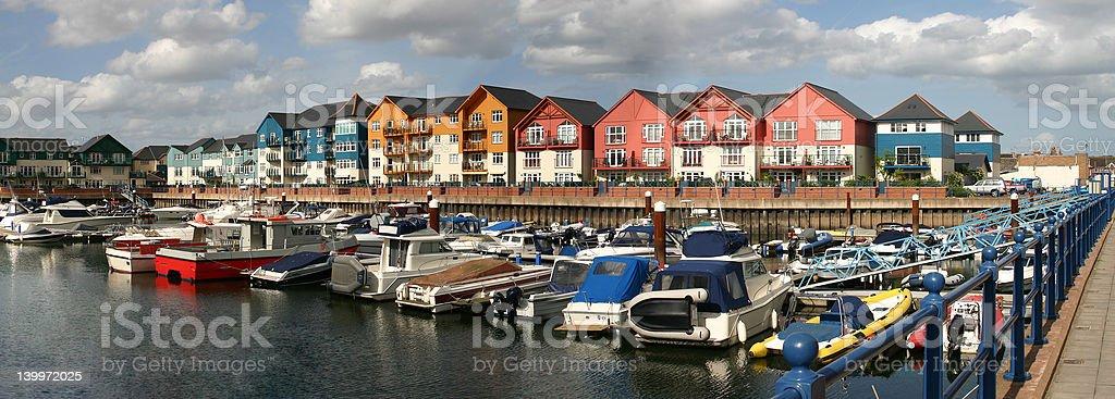 Exmouth Quay stock photo