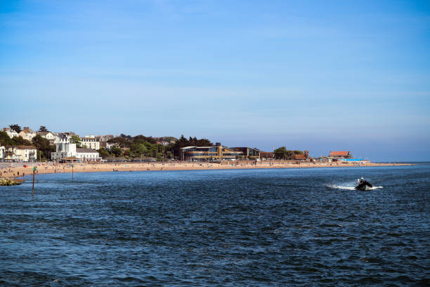 Exmouth seafront in Devon stock photo