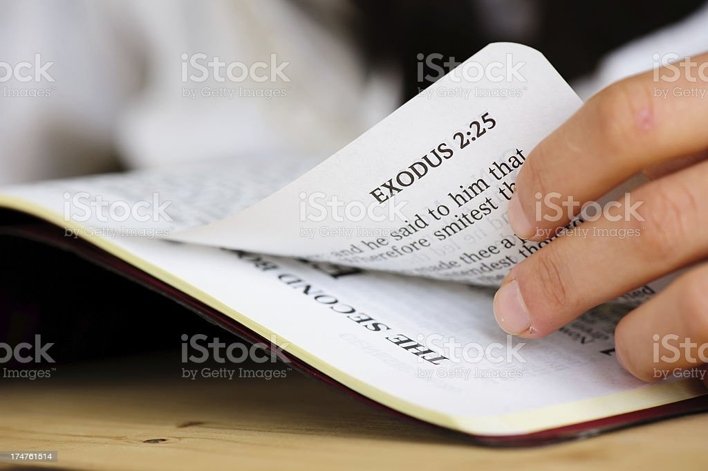 Exodus Book from  Bible royalty-free stock photo
