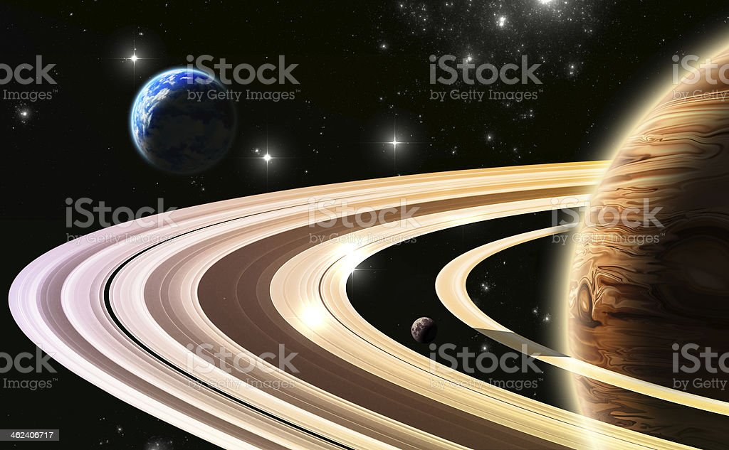 Exoplanets. World outside of our solar system royalty-free stock photo