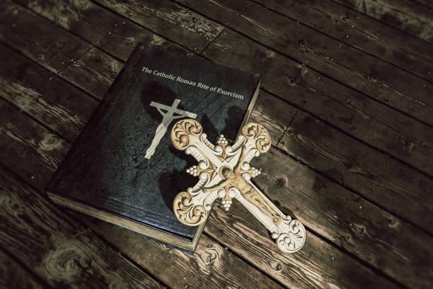 exorcism book stock photo