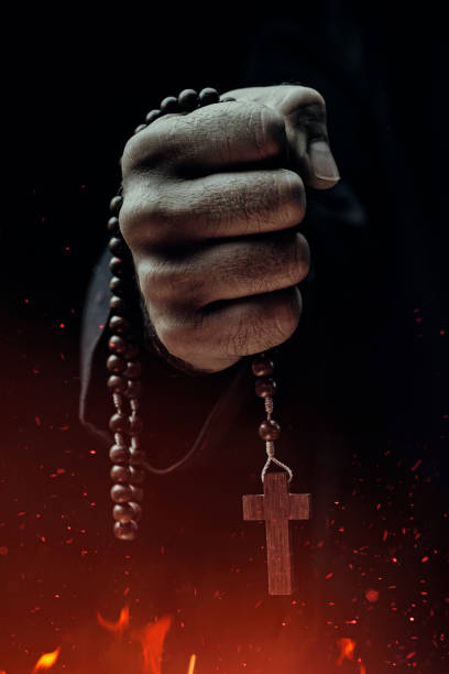 exorcist - demon stock photos and pictures