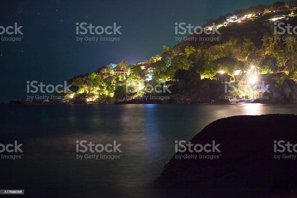 Photo De Stock De Exotique Exceptionnelle Dans La Nuit Sur Lîle Koh ...