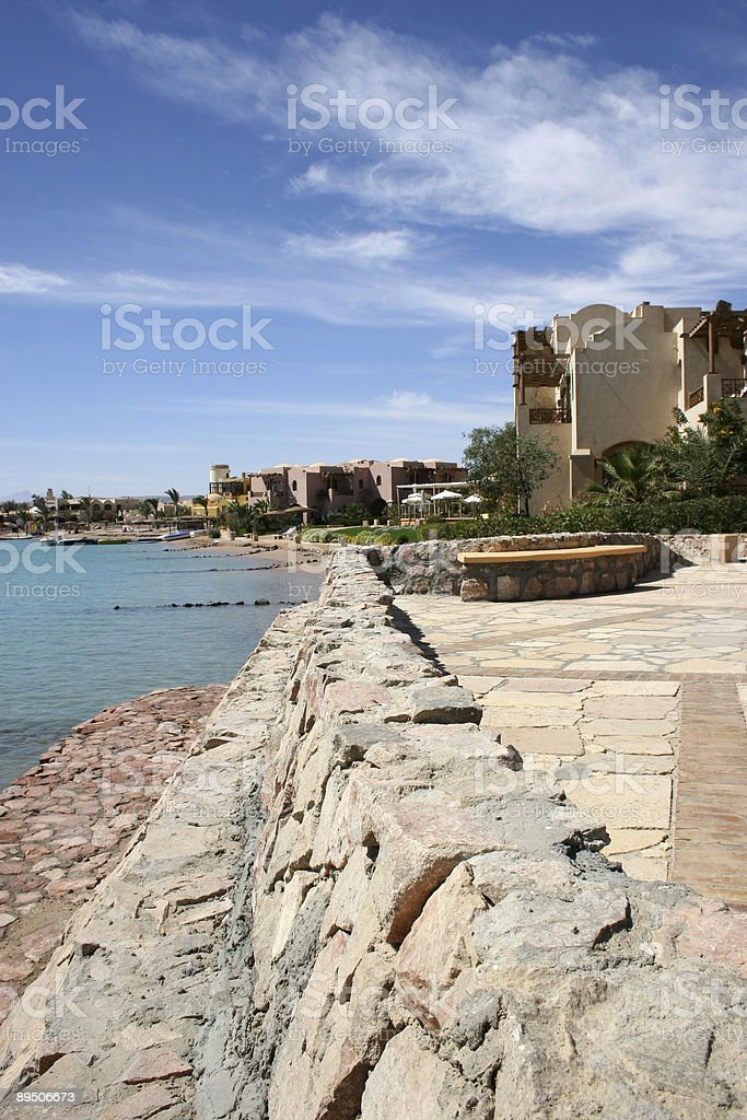 Exotic bay in Egypt, Red Sea royalty-free stock photo