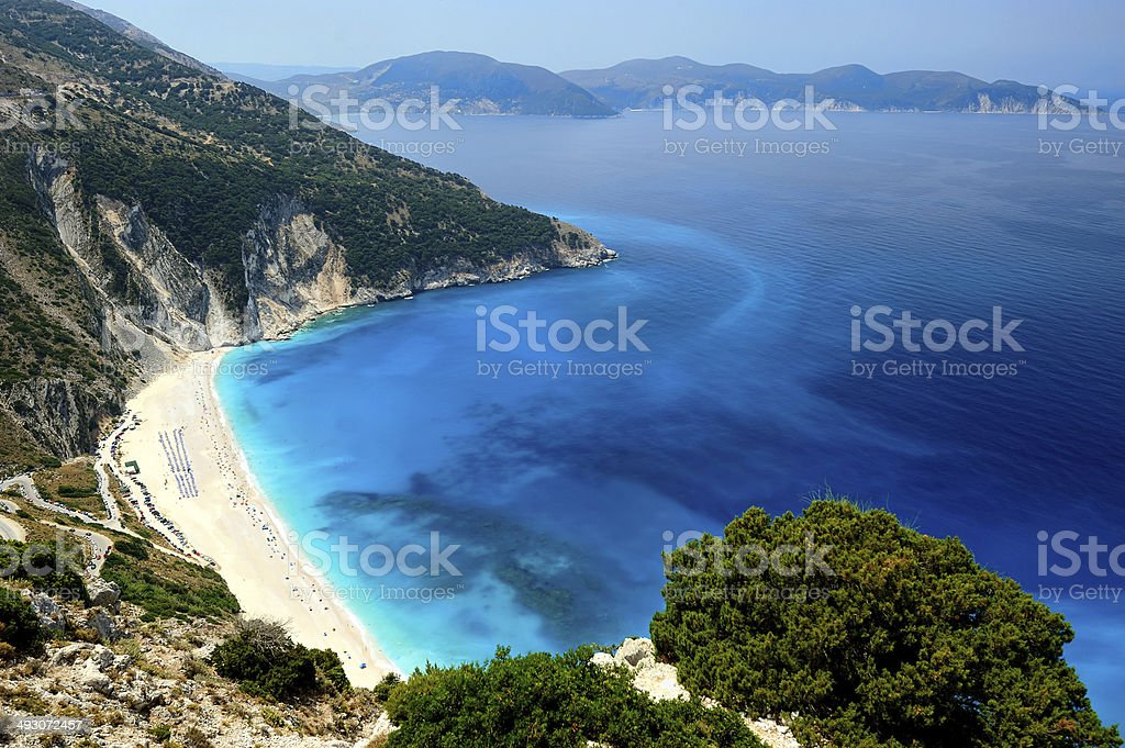 Exotic beach Myrtos Kefalonia stock photo