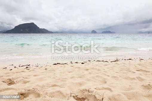 Storm clouds over El Nido, Palawan island, Philippines