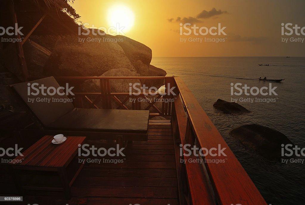 Exotic Beach Sunset royalty-free stock photo