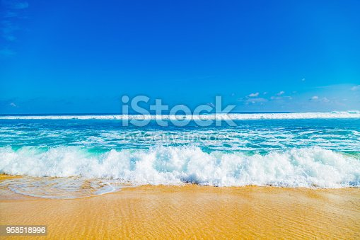 Exotic blue tropical ocean / sea tropical scenery.