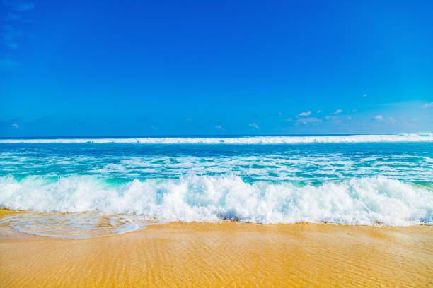 exotic blue tropical ocean / sea tropical scenery. - riva dell'acqua foto e immagini stock