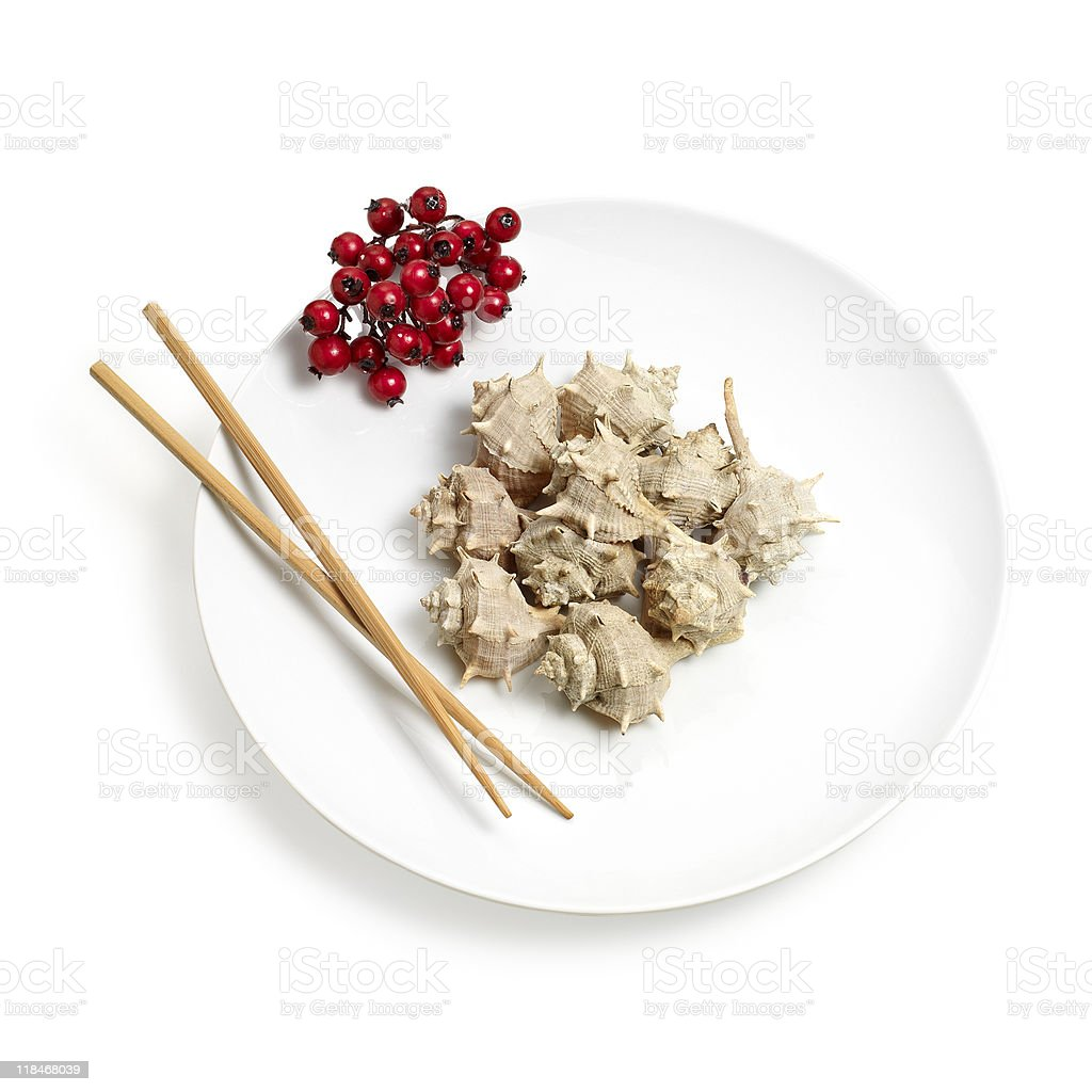 Exotic Christmas meal royalty-free stock photo