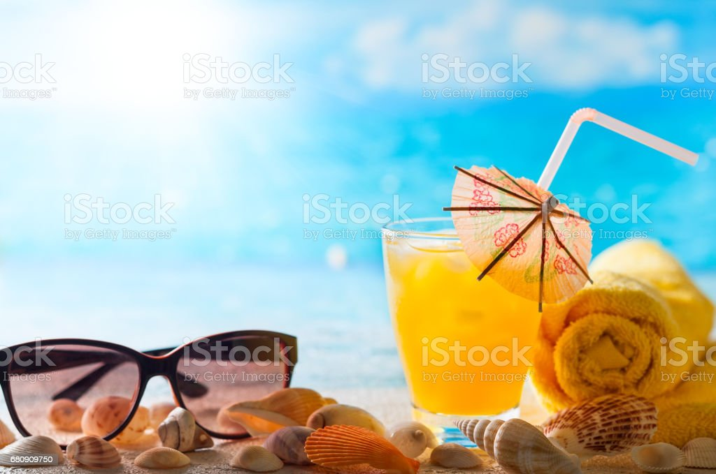 exotic cocktail royalty-free stock photo