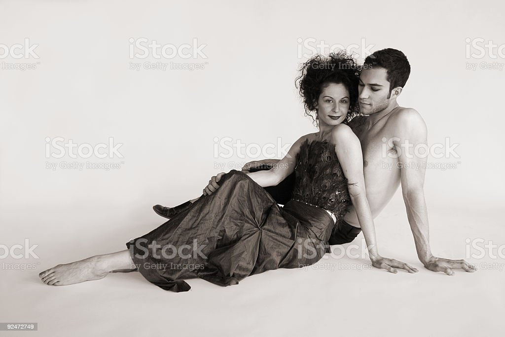 Exotic couple Series royalty-free stock photo