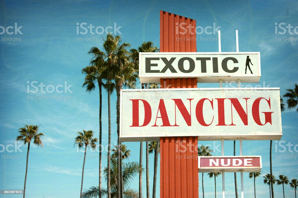 exotic dancing sign stock photo