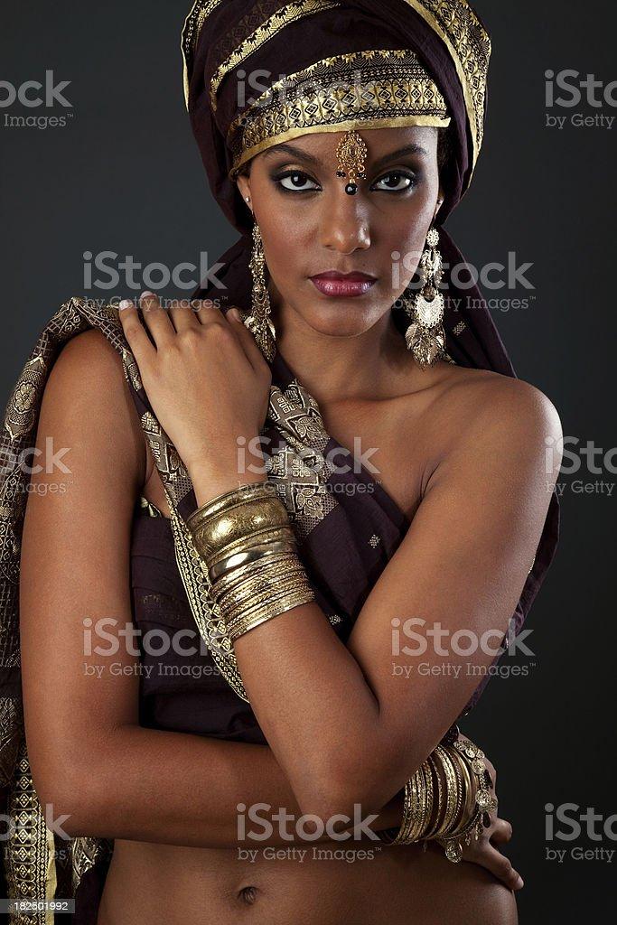 Exotic Dark Woman royalty-free stock photo
