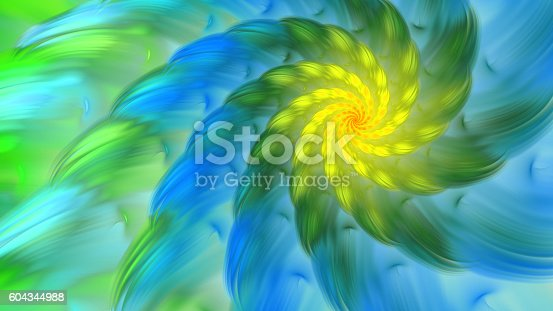 istock Exotic flower. Dance of flower petals. 604344988
