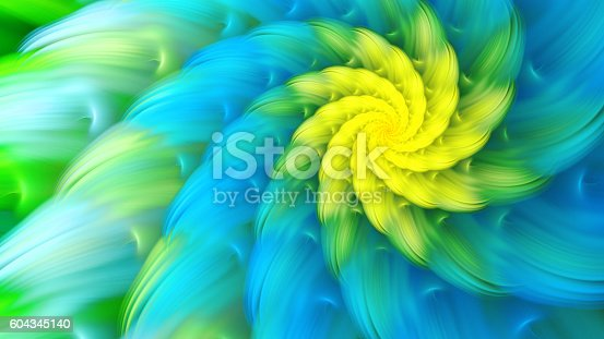 istock Exotic flower. Dance of flower petals. 604345140