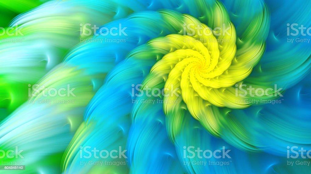 Exotic flower. Dance of flower petals. stock photo
