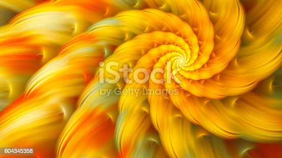 istock Exotic flower. Dance of flower petals. 604345358